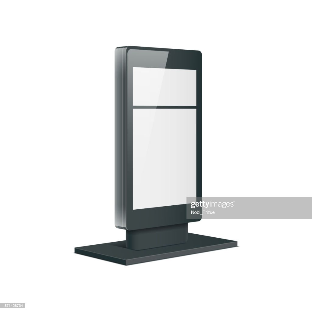 Empty retail stand. Illustration isolated on white background