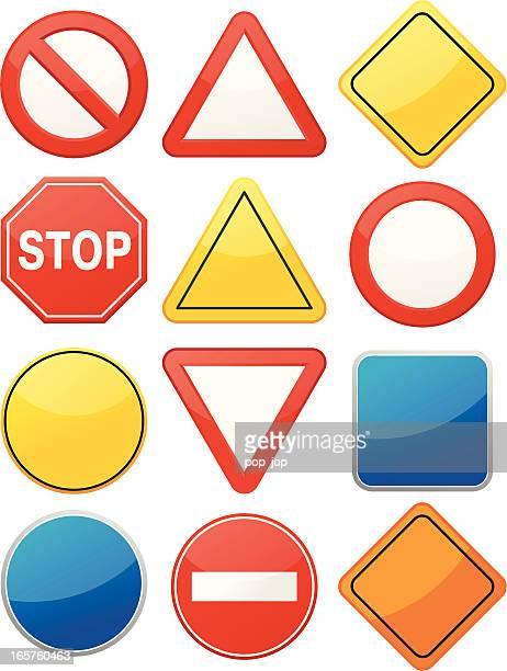 illustrations, cliparts, dessins animés et icônes de route vide panneaux - panneau sens interdit