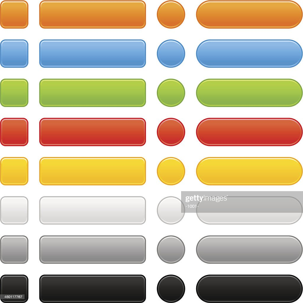 Empty rounded quare rectangle circle icon web internet button