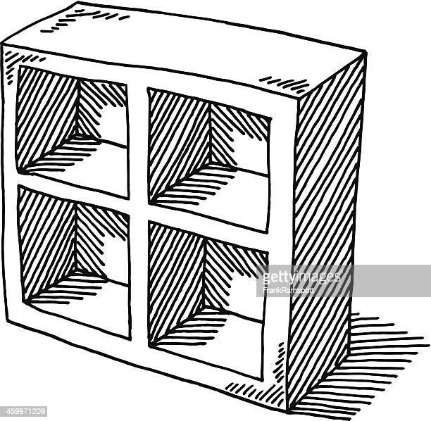 Empty Shelf Furniture Drawing