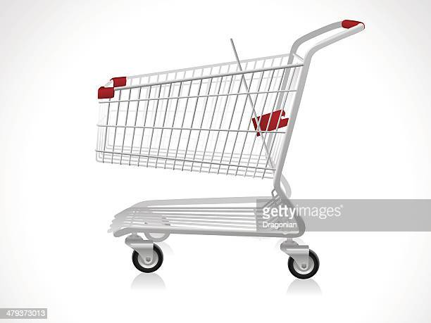 empty shopping cart - shopping cart stock illustrations