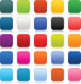 Empty softness rounded square icon web internet blank button