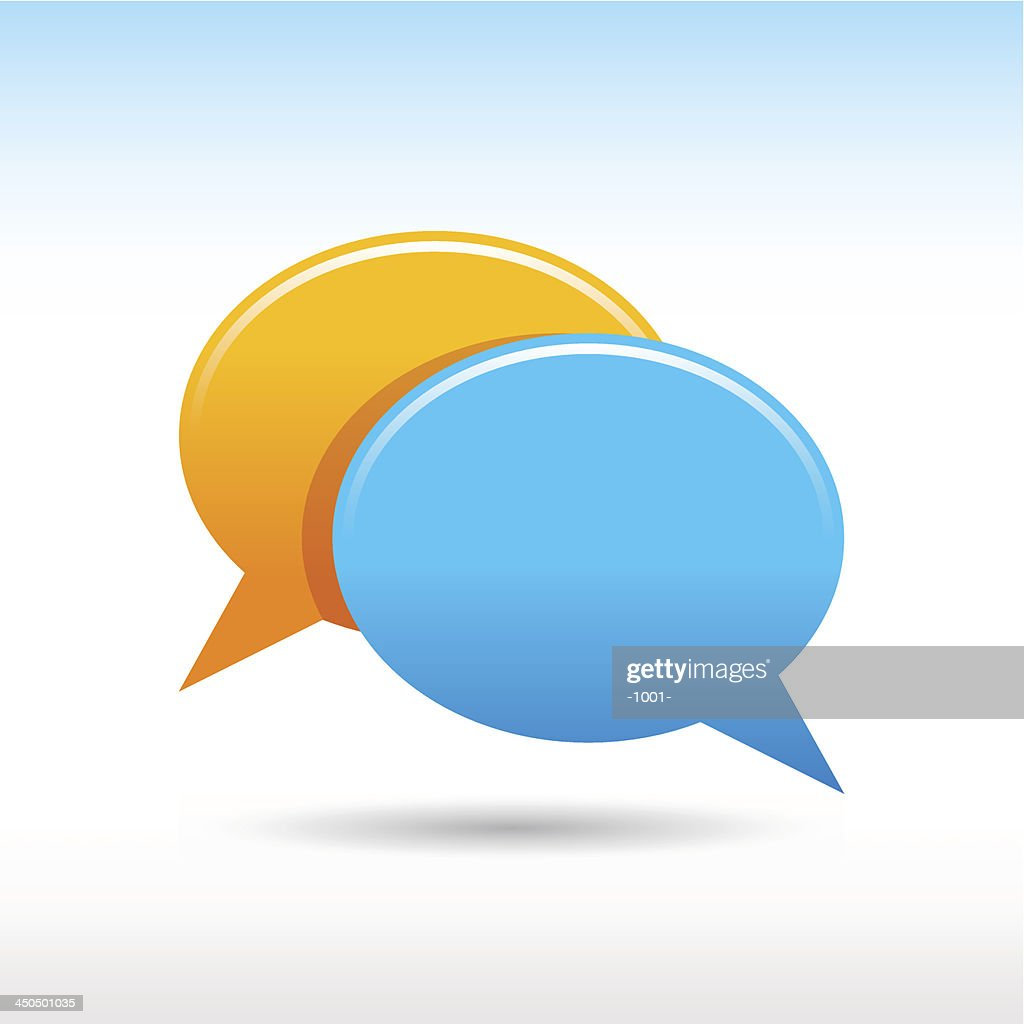 Empty speech bubble icon blank chat room web button