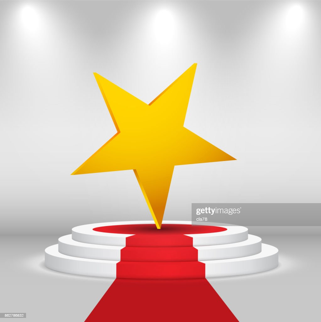 Empty stage, vector background