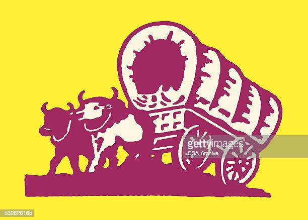empty stagecoach - wild cattle stock illustrations, clip art, cartoons, & icons