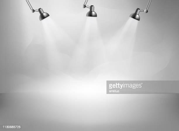 leere Studio mit Beleuchtung