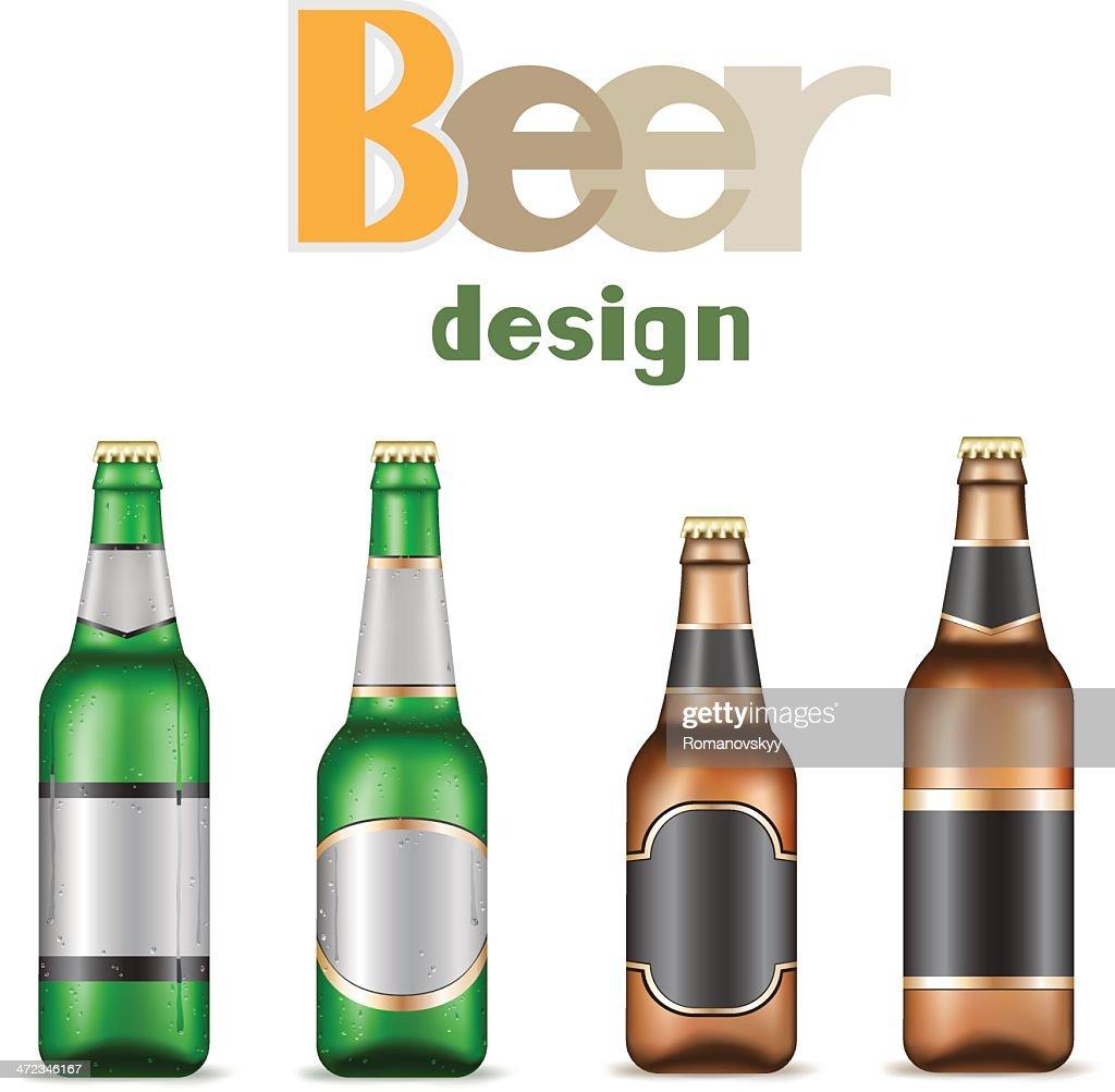 Empty template for beer bottle design