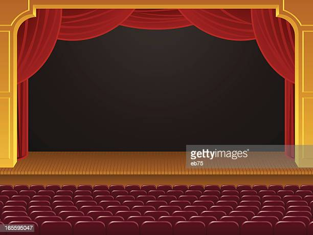 empty theater - classical theater stock illustrations, clip art, cartoons, & icons