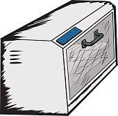 Empty Toaster Oven