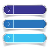 Empty web buttons vector - blue