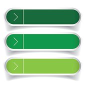 Empty web buttons vector - green