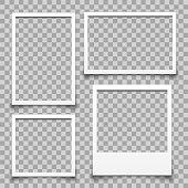 Empty white photo frame - for stock