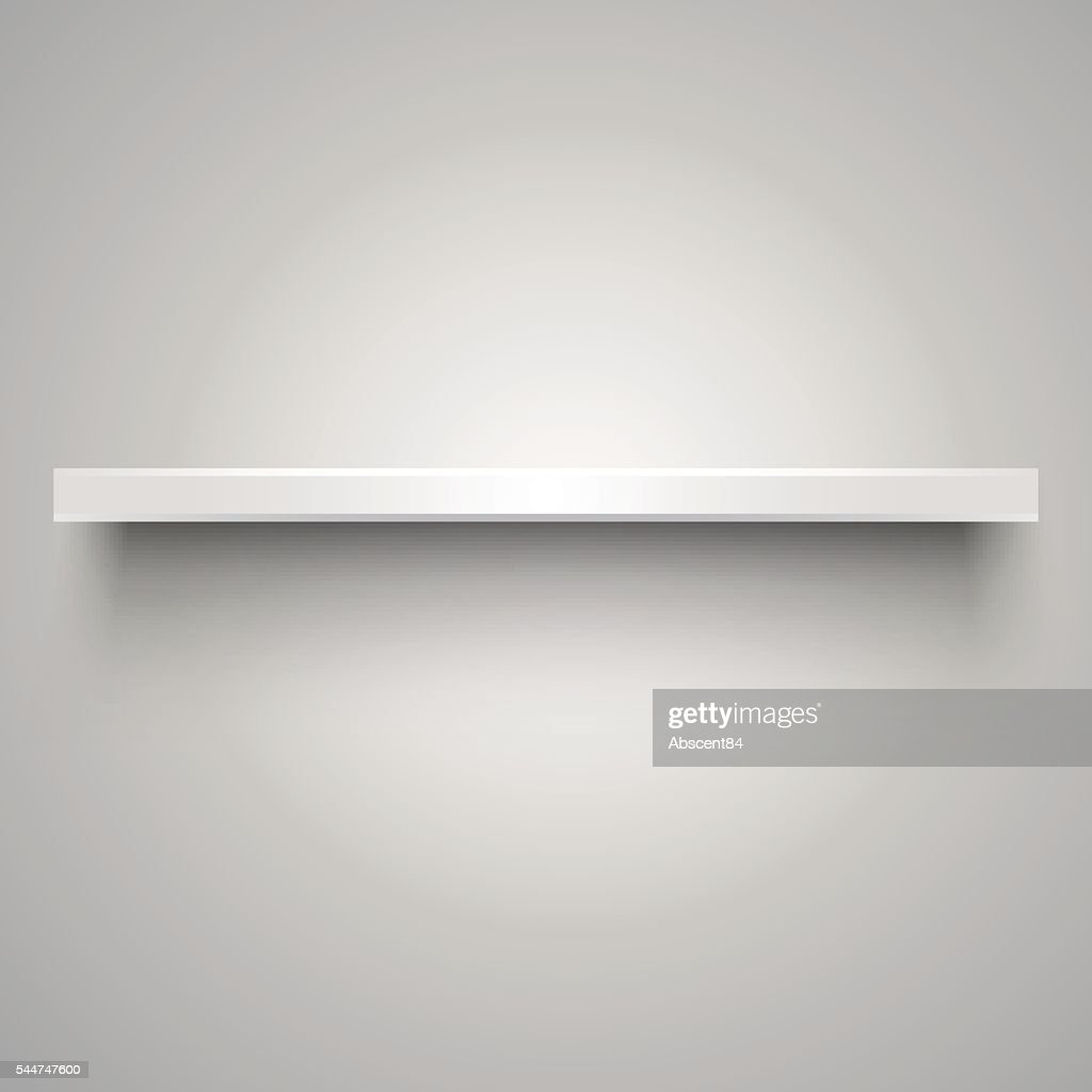 Empty white shelve