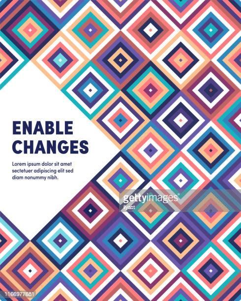 enable changes modern & geometric vector illustration - sociology stock illustrations, clip art, cartoons, & icons