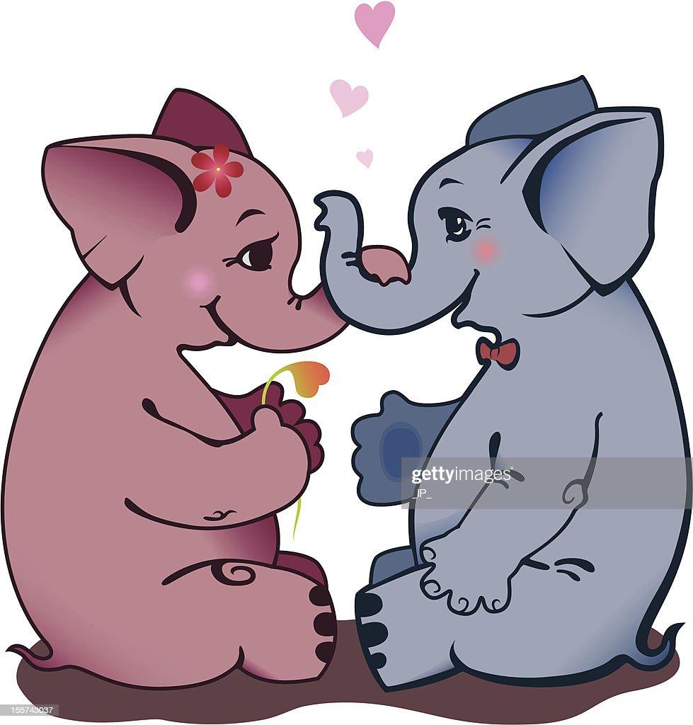 Enamoured elephants.