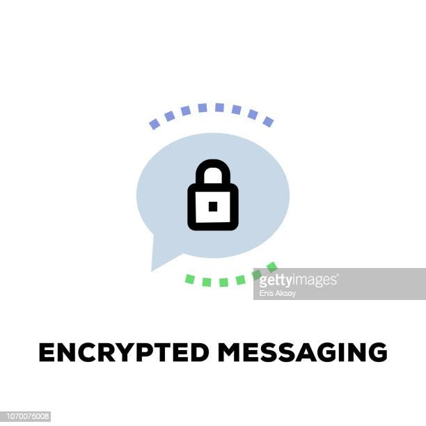 Encrypted Messaging Line Icon