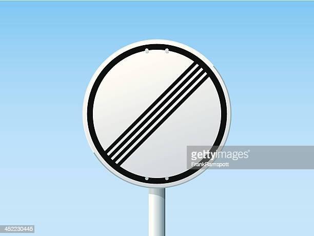 Ende der Grenzen deutsche Road Sign