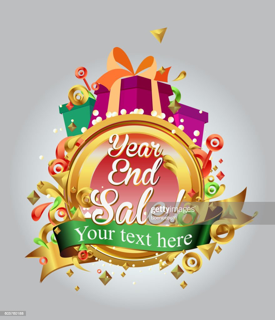 End of year sale design. campaign template