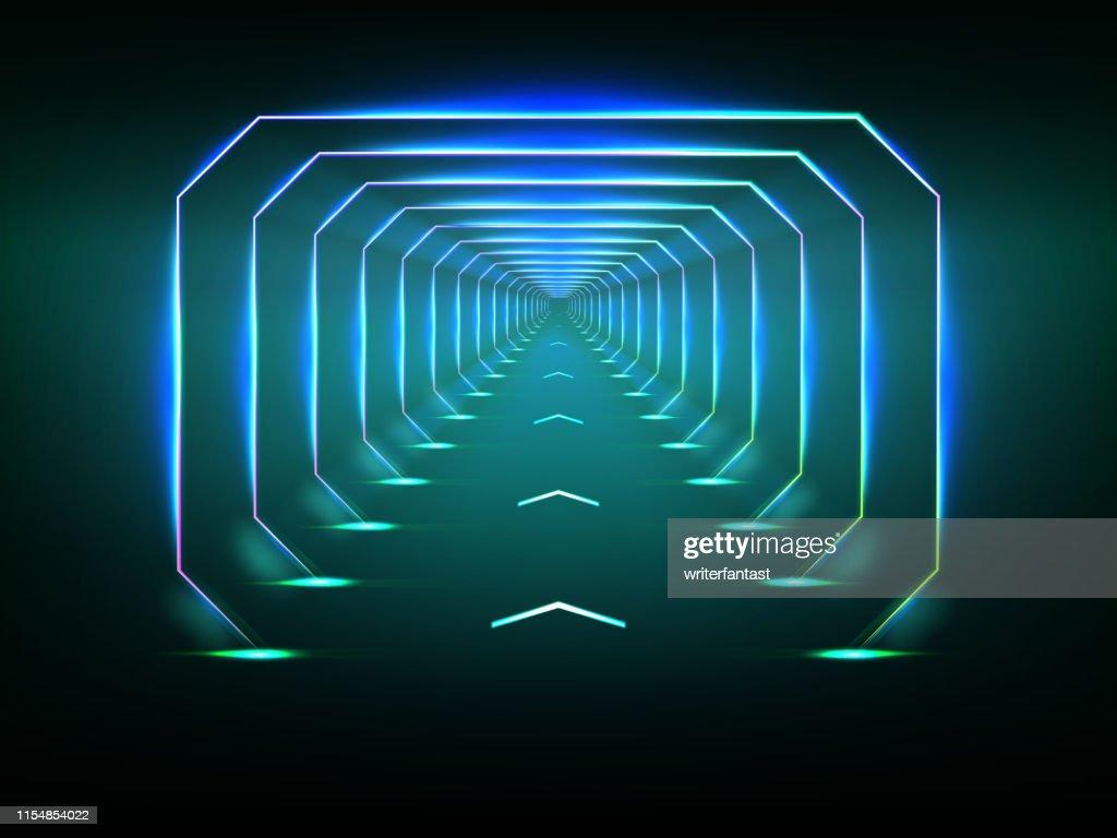 Endless futuristic tunnel : stock illustration
