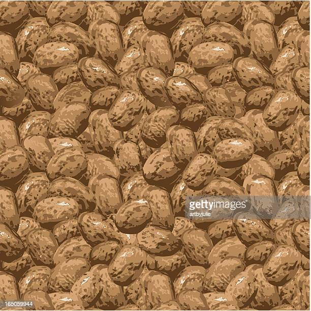 endless repeating pinto beans - pinto bean stock illustrations