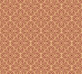 Endless texture with stylized patterned  mandala in Indian style.