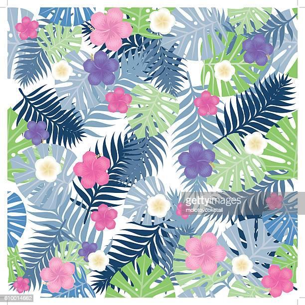 endless tropical pattern