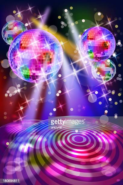 Energetic Colorful Disco Club Background