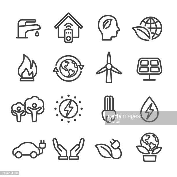 Energy and Eco Icons - Line Series