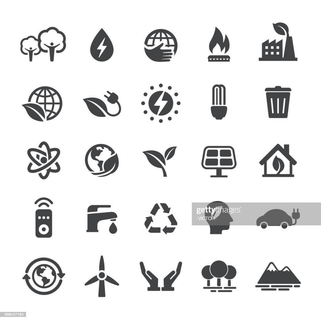 Energi och Eco ikoner - Smart-serien : Illustrationer