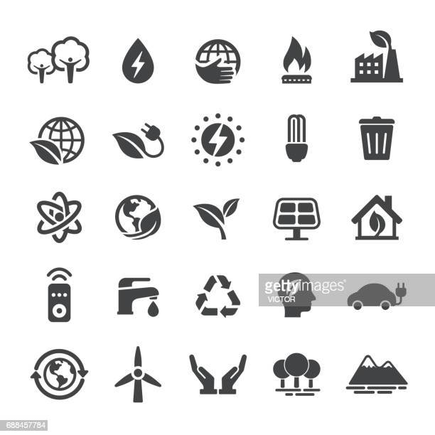 energy and eco icons - smart series - environment stock illustrations