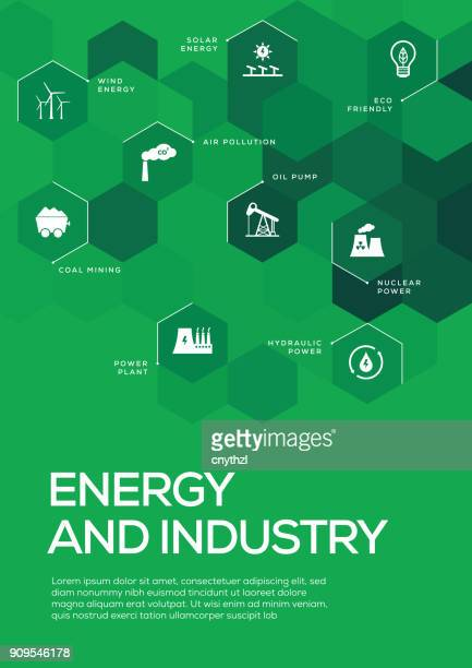 energy and industry. brochure template layout, cover design - fuel station stock illustrations, clip art, cartoons, & icons