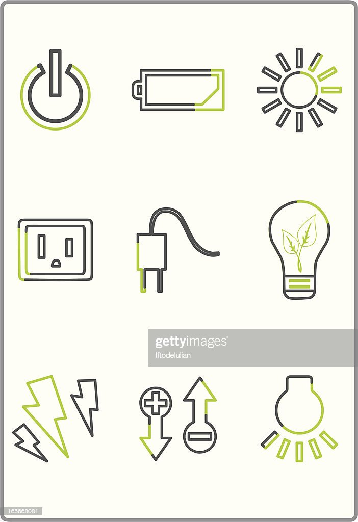 Energy and light icons