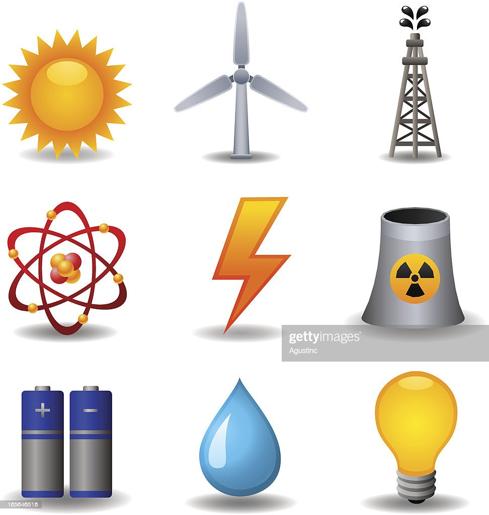 Energy and Power Set : Stock Illustration