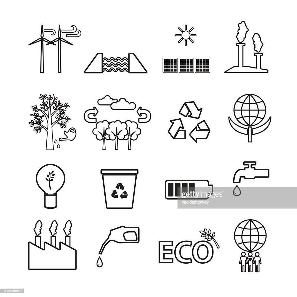 Energy and Power vector,icon set