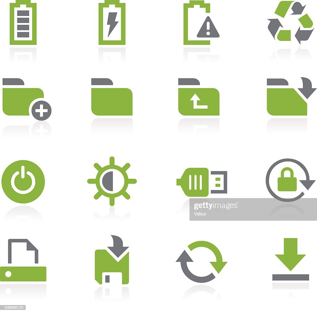 Energy and Storage Icons // Natura Series