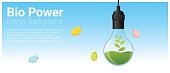 Energy concept background with bio energy in light bulb , vector , illustration