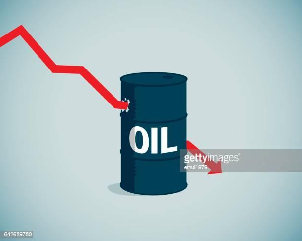 energy crisis - stock market crash stock illustrations