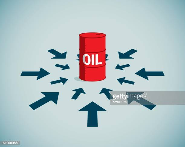 energy crisis - oil drum stock illustrations, clip art, cartoons, & icons