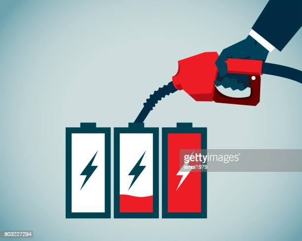 energy crisis - fuel pump stock illustrations, clip art, cartoons, & icons