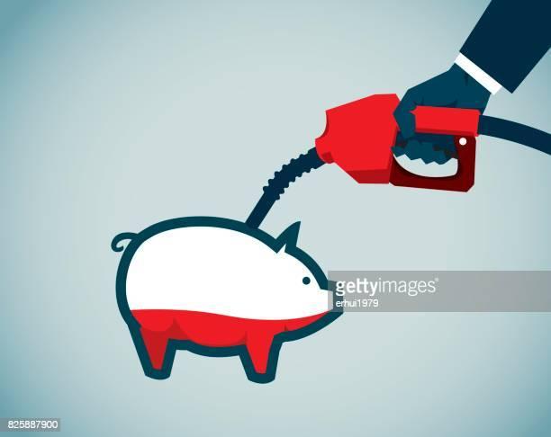 ilustrações, clipart, desenhos animados e ícones de crise de energia, - abastecendo