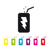 Energy drink can vector icon