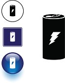 energy drink symbol sign and button
