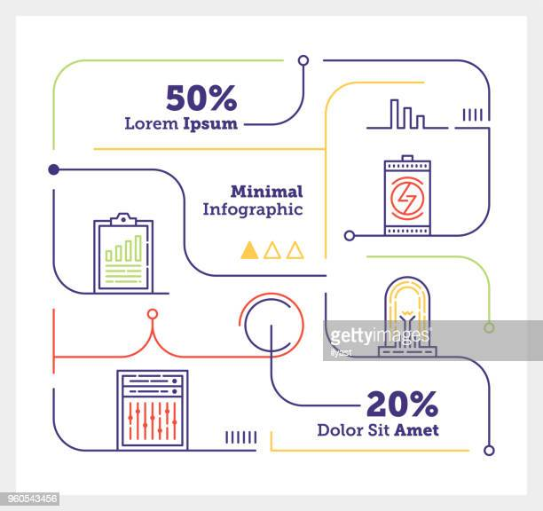 energy efficiency mini infographic - receiving stock illustrations