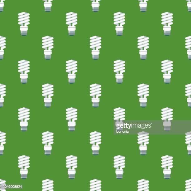 Energy Efficient Lightbulb Environment Seamless Pattern