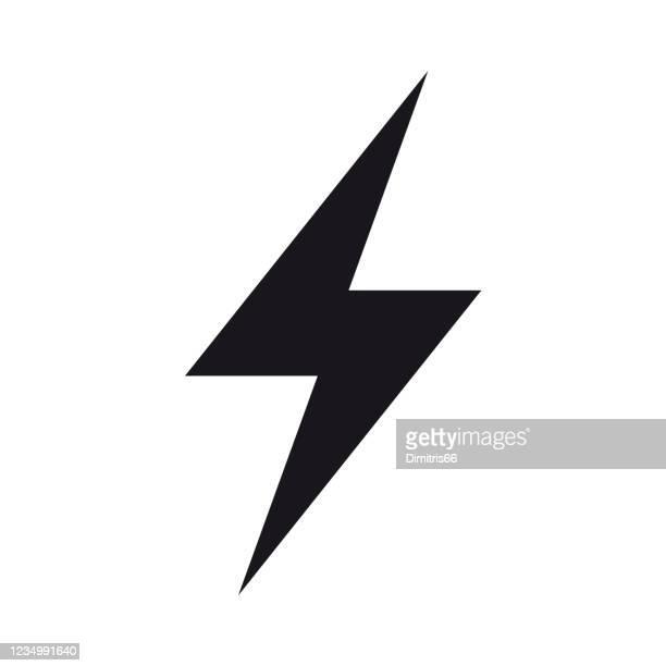 energie, strom, strom-symbol - gewitterblitz stock-grafiken, -clipart, -cartoons und -symbole