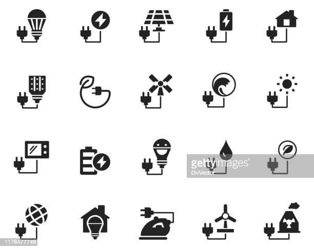 エネルギーアイコンセット - led点のイラスト素材/クリップアート素材/マンガ素材/アイコン素材