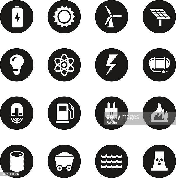 Energie-Icons-Schwarz-Serie Circle