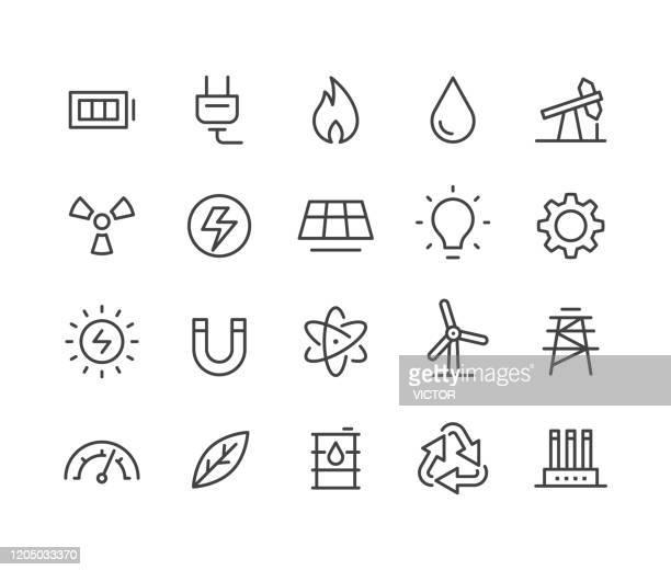 bildbanksillustrationer, clip art samt tecknat material och ikoner med energi ikoner - klassiska line-serien - vindkraft