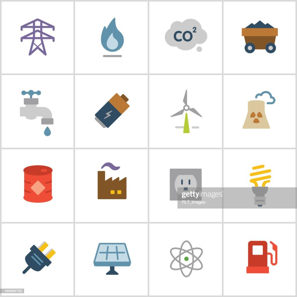 Energy Icons — Poly Series : Stock Illustration