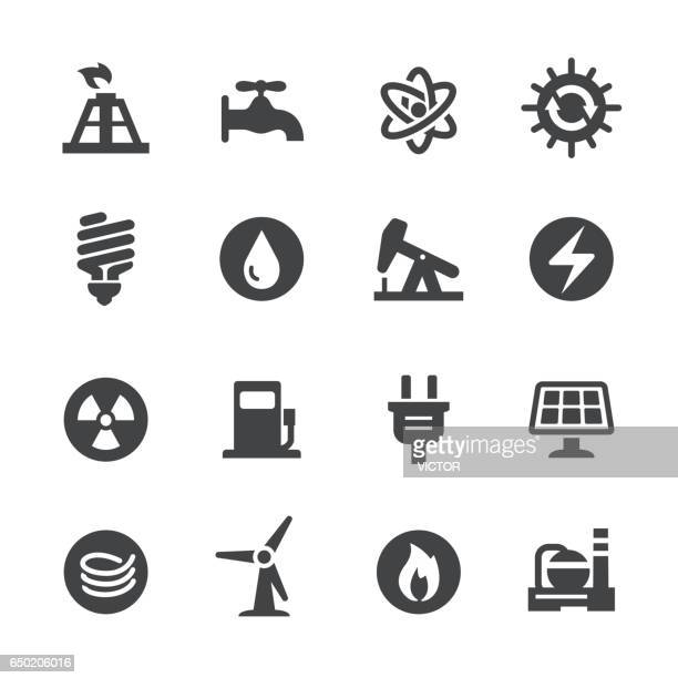 energy icons set - acme series - electric plug stock illustrations, clip art, cartoons, & icons
